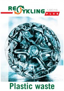 """Okładka najnowszego wydania magazynu """"Recykling Plus"""" przygotowanego specjalnie z myślą o targach IdentiPlast"""