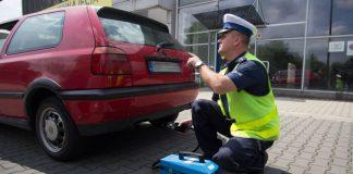 Badanie jakości spalin w samochodzie Kraków policja