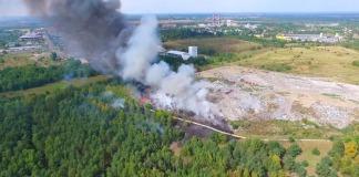 Pożar składowiska w Ostrołęce