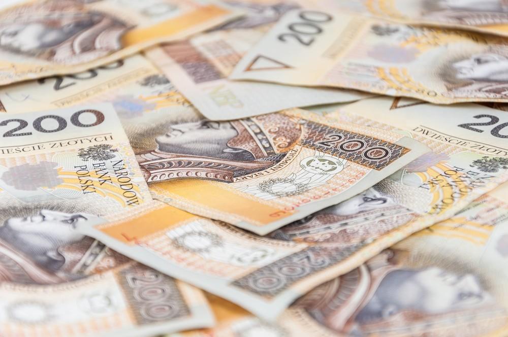 Sterta banknotów 200 PLN
