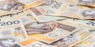 Background of 200 PLN - polish zloty banknotes