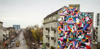 Mural w Łodzi, aut. 3TTMAN