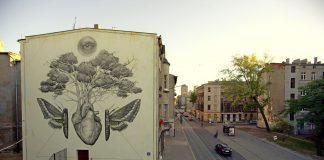 Mural w Łodzi, aut. ALEXIS DIAZ