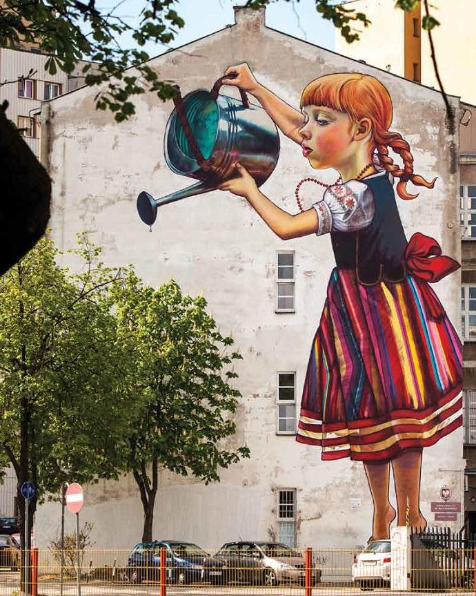 bia ystok chce ochroni mural dziewczynka z konewk