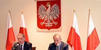 Jan Szyszko i Mariusz Gajda na konferencji Ministerstwa Środowiska