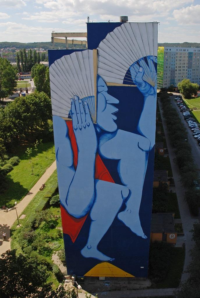 Mural w Gdańsku, aut. Run