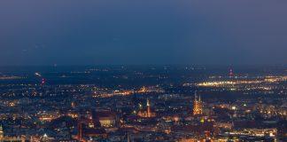 Wrocław smog panorama