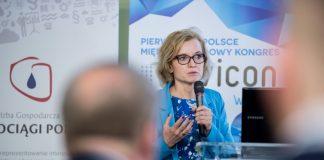Klara Ramm-Szatkiewicz podczas Kongresu Envicon Water 2016 w Bydgoszczy