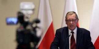 Minister środowiska Jan Szyszko podczas konferencji podsumowującej rok prac resortu