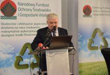 Prezes NFOŚiGW Kazimierz Kujda podczas konferencji w siedzibie Narodowego Funduszu Ochrony Środowiska i Gospodarki Wodnej