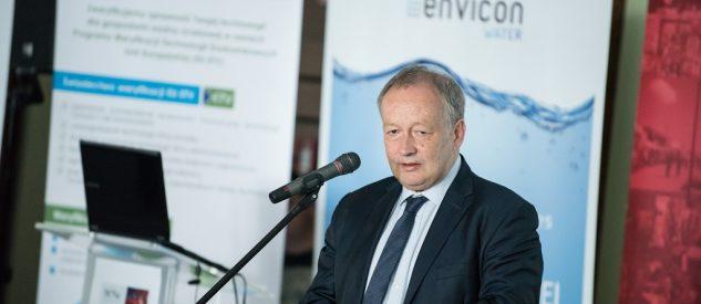Wiceminister Mariusz Gajda podczas kongresu Envicon Water 2017 mówi o Prawie wodnym