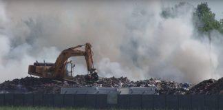 Pożar składowiska odpadów w Legnicy
