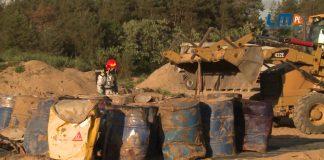 Nielegalne składowisko z chemikaliami w powiecie konińskim