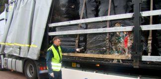 Ciężarówka nielegalnie przewożąca odpady zatrzymana przez WITD Poznań