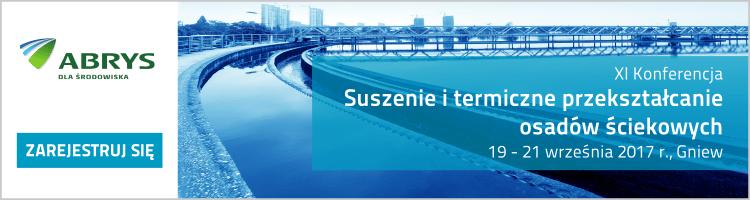 Banner konferencja Suszenie osadów sciekowych 750×200