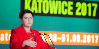 Beata Szydło podczas targów Katowice 2017