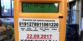 Zablokowany kasownik w krakowskiej komunikacji miejskiej