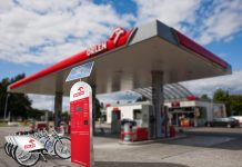 Wizualizacja terminalu rowerów miejskich Nextbike na stacji PKN Orlen