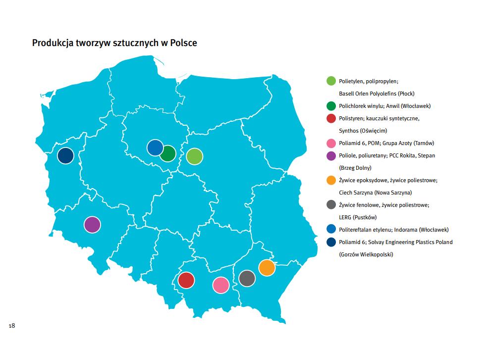 Produkcja tworzyw sztucznych w Polsce 2016