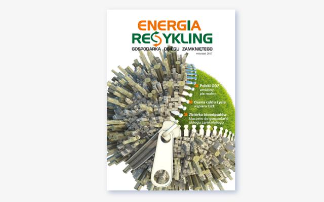 """Czasopismo """"Energia i Recykling"""" - okładka pierwszego numeru"""