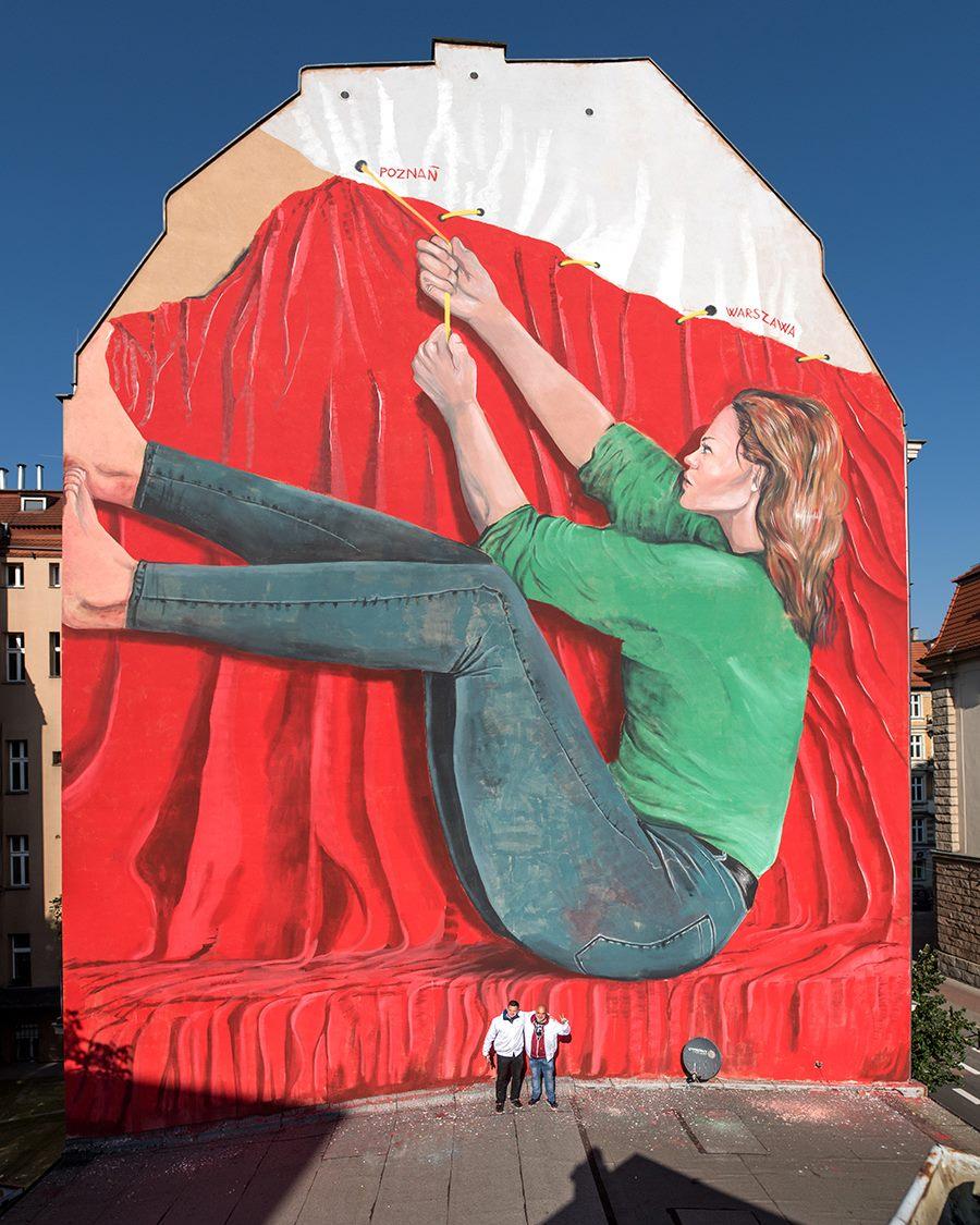 Mural Maupala w Poznaniu