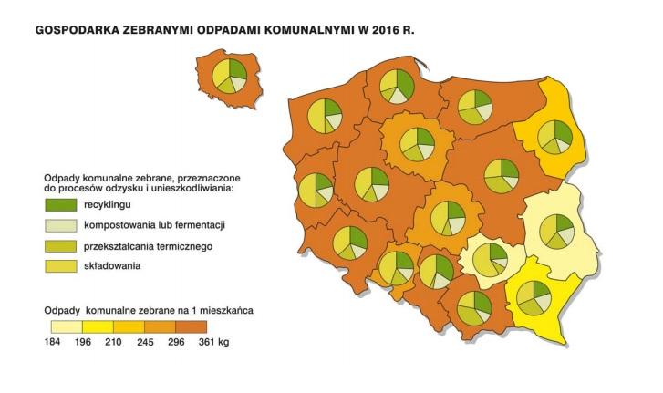 Gospodarka odpadami komunalnymi w 2016 r.