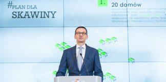"""Premier Mateusz Morawiecki podczas ogłoszenia programu termomodernizacji """"Smog stop"""""""