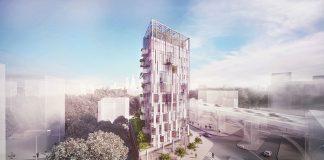 Projekt wieżowca Eco Warsaw Tower w Warszawie