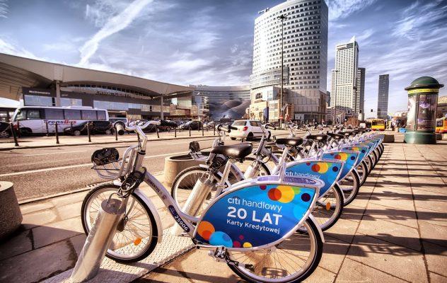 Rowery miejskie Veturilo firmy Nextbike w Warszawie